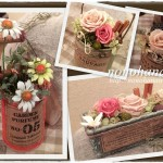 リメイク缶に花々のアレンジメント♪…からのプレ企画当選結果発表~の巻☆